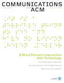 A Blind Person's Interaction with Technology