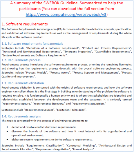 Understanding The Knowledge Gaps Of Software Engineers An Empirical Analysis Based On Swebok
