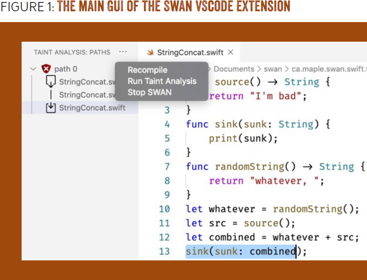 Designing UIs for Static Analysis Tools: Evaluating tool design guidelines with SWAN