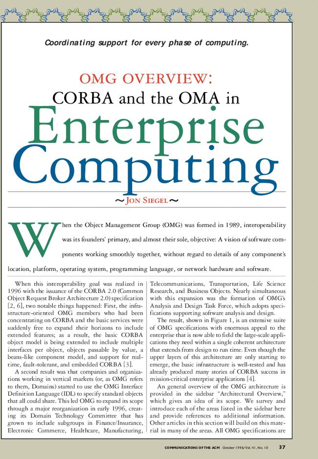 CORBA 3 Fundamentals and Programming