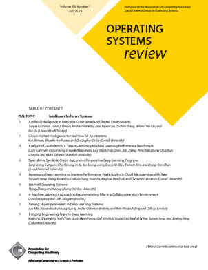 Learned Operating Systems Acm Sigops Operating Systems Review Vol 53 No 1